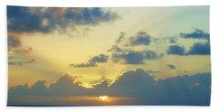 Pacific Sunrise, Japan Beach Towel by Susan Lafleur