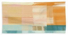 Pacific Sunset- Abstract Art By Linda Woods Beach Towel