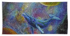 Pacific Whale In Space Beach Sheet
