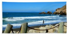 Beach Towel featuring the photograph Pacifica Coast by Glenn McCarthy Art and Photography