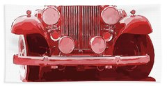 Packard Ask The Man Red Beach Towel