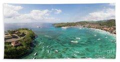 Padang Bai Panorama In Bali Beach Sheet