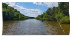Paddling Up Crooked Creek Beach Towel