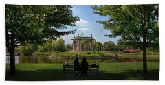 Beach Towel featuring the photograph Pagoda Circle Interlude by Susan Rissi Tregoning