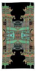 Pagoda Tower Becomes Chinese Lantern 1 Chinatown Chicago Beach Towel by Marianne Dow