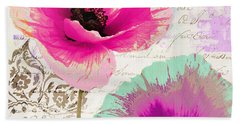 Paint And Poppies II Beach Towel