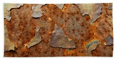 Paint And Rust Photograph Beach Sheet