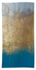 Paint The Sky Gold Beach Towel