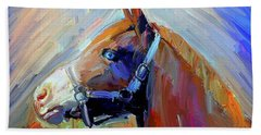 Painted Color Horse Beach Towel