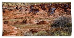 Painted Desert In Winter Beach Towel