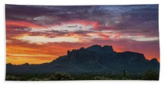 Beach Towel featuring the photograph Painted Desert Skies Over The Supes  by Saija Lehtonen