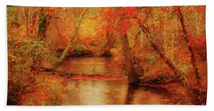 Painted Fall Beach Towel