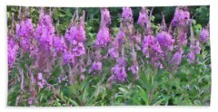Painted Fireweed Beach Towel