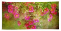 Painted Flowers Beach Towel