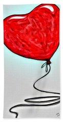 Painted Heart Beach Towel