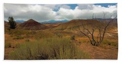Painted Hills Landscape In Central Oregon Beach Towel
