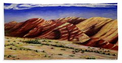 Painted Hills Beach Towel by Lisa Rose Musselwhite