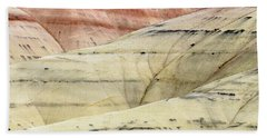 Beach Towel featuring the photograph Painted Hills Ridge by Greg Nyquist