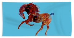 Painted Horse 3 Beach Towel