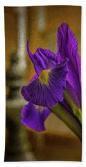 Painted Iris Beach Towel