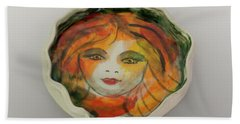 Beach Towel featuring the photograph Painted Lady-1 by David Coblitz