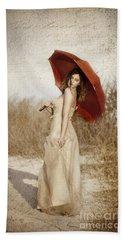 Painted Lady Narrow Beach Towel
