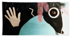 Painted Pony With Feather Beach Towel