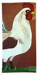 Painted Rooster Beach Towel