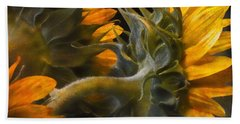 Beach Towel featuring the photograph Painted Sun Flowers by John Rivera