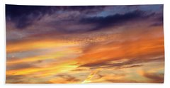 Painted Sunset Beach Towel