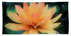 Painted Tangerine Dahlia Beach Sheet