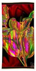 Painted Tulips Beach Towel by Irma BACKELANT GALLERIES