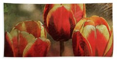 Painted Tulips Beach Towel