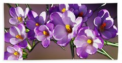 Beach Towel featuring the photograph Painted Violets by John Haldane