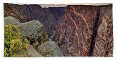 Beach Towel featuring the photograph Painted Wall At Black Canyon Of The Gunnison - Colorado - Landscape by Jason Politte
