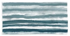 Painterly Beach Stripe 1- Art By Linda Woods Beach Towel