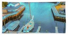 Painterly Tuckerton Seaport Beach Towel