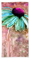 Beach Towel featuring the painting Painting Cone Flower 8615d by Mas Art Studio