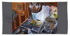 Painting Things Beach Towel