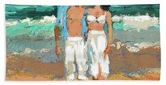 Pair By The Sea Beach Towel