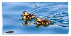 Duckling Duo Beach Towel
