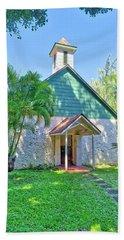 Beach Towel featuring the photograph Palapala Ho'omau Congregational Church by Jim Thompson