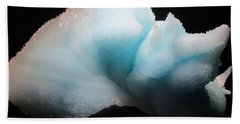 Beach Towel featuring the photograph Pale Blue Gemstone by Barbara Yearty