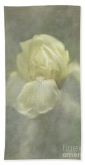 Beach Towel featuring the digital art Pale Misty Iris by Lois Bryan