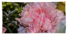 Pale Pink Carnation Beach Towel
