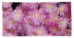 Pale Pink Flowers Beach Sheet by Mark Barclay