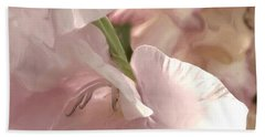 Pale Pink Glads Beach Towel