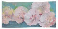Pale Pink Peonies Beach Towel