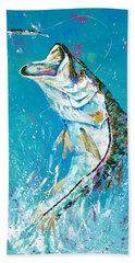 Pallet Knife Jumping Snook Beach Towel