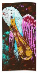 Pallet Knife Spoonbill Beach Towel